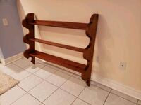 brown wooden frame wall mount rack Pickering, L1X 2L5