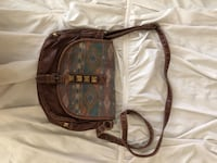 brown and black leather crossbody bag Chandler, 85248