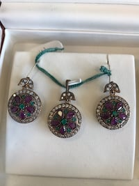 Pendant and earrings - made from silver 195 mi