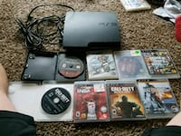 PS3 with 8 games  1072 mi