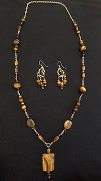 Tiger Eye Necklace and Earings Smith-Ennismore-Lakefield, K0L