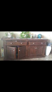 brown wooden cabinet with mirror Oklahoma City, 73064