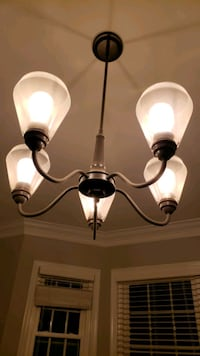 black and white uplight chandelier Tysons