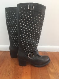 Beautiful studded leather boots