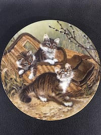 group of cats decorative plate Victoria, V9A 7C7