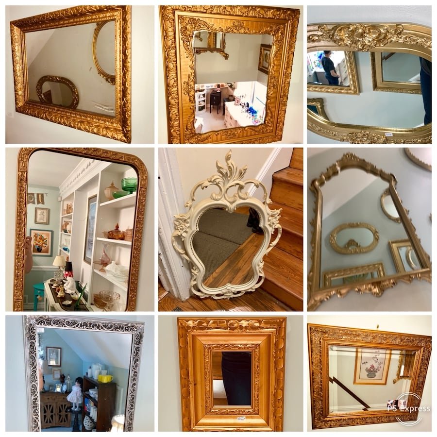 Exquisite collection of decorative ornate mirrors