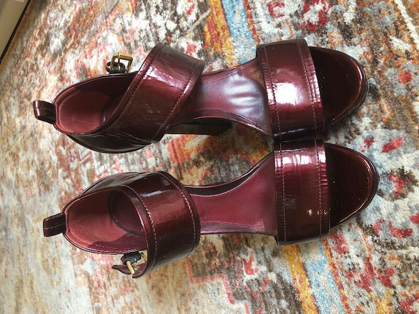 615cf9e6a98 Used Sergio Rossi Oxblood Heels 37 open toe platform sandals for sale in  Toronto - letgo