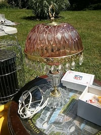 pink and clear glass sabby sheek lamp Fairfield, 17320