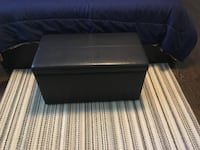 Dark brown leather ottoman. Excellent condition. South Plainfield, 07080