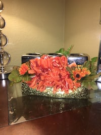 red faux flower centerpiece Rancho Cucamonga, 91739