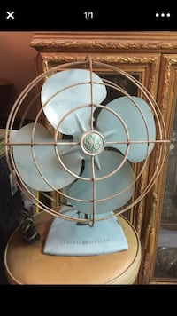 1950s Vintage GE General Electric Oscillating Metal desk Fan Los Angeles, 90057