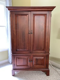 SOLID WOOD Armoire/Hutch with Vizio TV