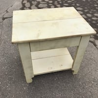 Pine whitewashed side table Brampton, L6W