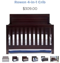 Baby's brown wooden crib screenshot Centreville, 20120