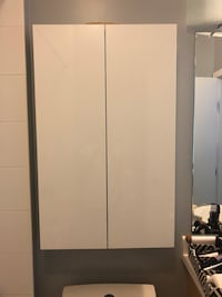 Ikea white bathroom wall cabinet Greater Vancouver, V6S