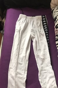 Real womens kappa pants white and black. Price is negotiable Brampton