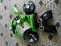 green and grey RC toy motorcycle with rider Martinsburg, 25401