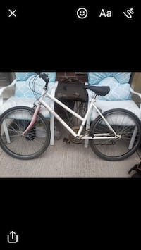 white and black mountain bike Brampton, L6R 1K5