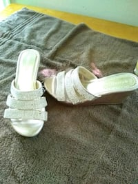 pair of white leather open-toe sandals Glassboro, 08028