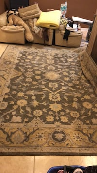 brown and white floral area rug Woodbridge, 22192