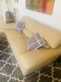 Natouzzi Italian leather couch and chair.  Oceanside, 92056