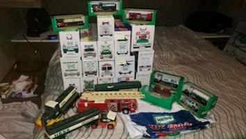 Collectors Hess die cast trucks, cars and etc.