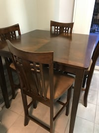 Counter height dining table with four chairs TORONTO