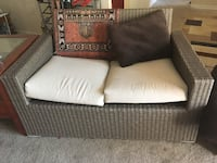 brown and white fabric loveseat Temple Hills, 20748