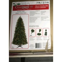 7 ft pre lit Christmas tree 70 km