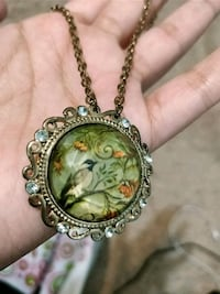 Necklace with Bird Pendant