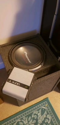 "12"" subwoofer and amplifier"