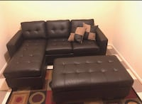 Brand new leather sectional sofa with ottoman (final price)  Silver Spring, 20902