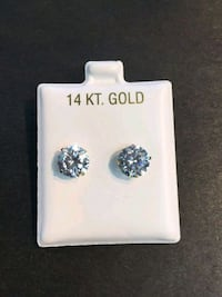 14k Gold 8mm stud earrings  Mississippi