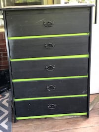 Black and green wooden dresser Alexandria, 22303