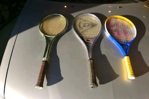 Assorted racquets.
