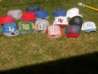 assorted color of baseball caps