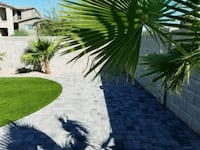 installation of pavers  and artificial grass