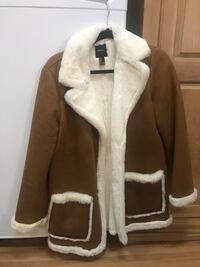 Brown and white suede coat Fairfax, 22030