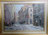 A Winter Day in the City Oil Painting TORONTO