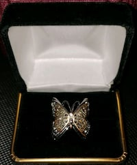 Sterling silver layered butterfly with 3 different color tones Centreville, 20120
