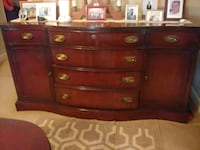red and brown wooden dresser Baltimore, 21223