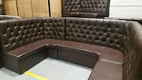 tufted black leather sectional sofa 3119 km