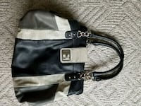 Guess black and gray leather tote bag Vernon, V1H