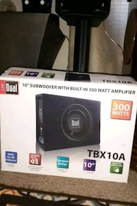 """10"""" Dual Subwoofer NEW IN BOX"""