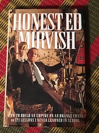 Honest Ed Mirvish signed book plus tee shirt  Toronto, M2M 3T9