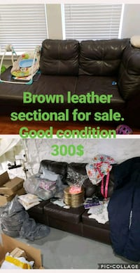 brown leather sectional sofa collage Baltimore, 21215