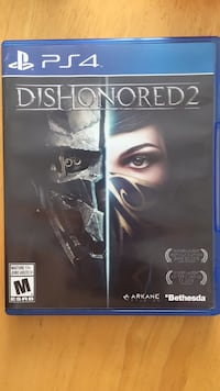 Dishonored 2 ps4 game case St Thomas, N5R 1V7