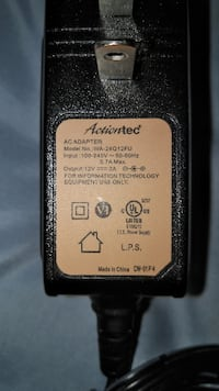 Actiontec 12 Volt Power Adapter