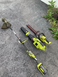 Ryobi trimmer,blower, hedge trimmer all cordless with batteries and charger  Maugansville, 21767
