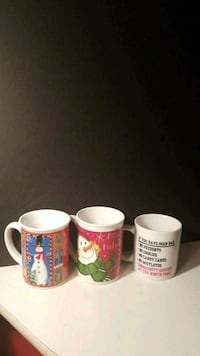 3 Oversized Christmas Mugs - 1 *AUTHENTIC CIA  San Waldorf, 20602